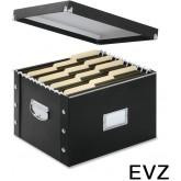 EvZ File Box, Letter/Legal Size, Glossy Black