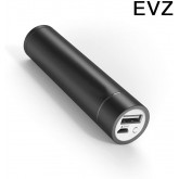 EvZ Portable Charger 3000mAh External Battery Pack Power Bank (2nd Gen Luster Mini, iSmart Technology, Apple Cables/adapters are not Included) for Phones, Tablets and More-Black