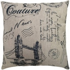 EvZ Homie Pillow Covers Heavy Cloth Decorative Pillow Case for Home Room Outdoor Cafe Decor Gift, Square, 20 X 20 inch, Jute Travel A