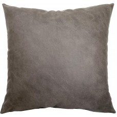 EvZ Homie Pillow Covers Heavy Leather Cloth Decorative Pillow Case for Home Room Outdoor Cafe Decor Gift, Square, 20 X 20 inch, Gray