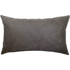 EvZ Homie Pillow Covers Heavy Leather Cloth Decorative Pillow Case for Home Room Outdoor Cafe Decor Gift, Square, 20 X 12 inch, Gray