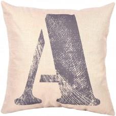 EvZ Homie Pillow Covers Letter Decorative Throw Pillow Case Home Decor Design Gift Square, 18 X 18 inch, Graffiti Paint, A