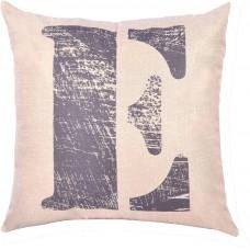 EvZ Homie Pillow Covers Letter Decorative Throw Pillow Case Home Decor Design Gift Square, 18 X 18 inch, Graffiti Paint, E