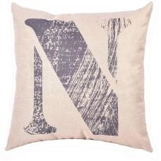 EvZ Homie Pillow Covers Letter Decorative Throw Pillow Case Home Decor Design Gift Square, 18 X 18 inch, Graffiti Paint, N