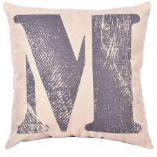 EvZ Homie Pillow Covers Letter Decorative Throw Pillow Case Home Decor Design Gift Square, 18 X 18 inch, Graffiti Paint, M