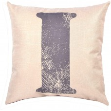 EvZ Homie Pillow Covers Letter Decorative Throw Pillow Case Home Decor Design Gift Square, 18 X 18 inch, Graffiti Paint, I
