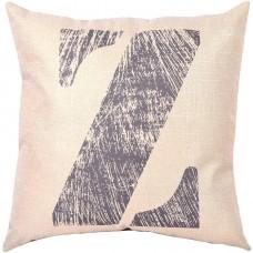 EvZ Homie Pillow Covers Letter Decorative Throw Pillow Case Home Decor Design Gift Square, 18 X 18 inch, Graffiti Paint, Z