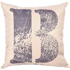 EvZ Homie Pillow Covers Letter Decorative Throw Pillow Case Home Decor Design Gift Square, 18 X 18 inch, Graffiti Paint, B