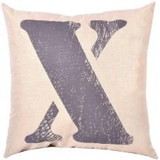 EvZ Homie Pillow Covers Letter Decorative Throw Pillow Case Home Decor Design Gift Square, 18 X 18 inch, Graffiti Paint, X