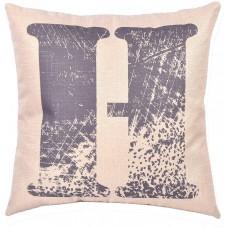 EvZ Homie Pillow Covers Letter Decorative Throw Pillow Case Home Decor Design Gift Square, 18 X 18 inch, Graffiti Paint, H