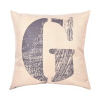EvZ Homie Pillow Covers Letter Decorative Throw Pillow Case Home Decor Design Gift Square, 18 X 18 inch, Graffiti Paint, G