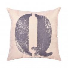 EvZ Homie Pillow Covers Letter Decorative Throw Pillow Case Home Decor Design Gift Square, 18 X 18 inch, Graffiti Paint, Q