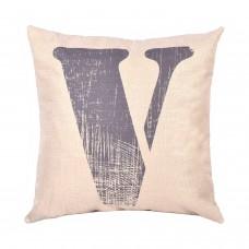 EvZ Homie Pillow Covers Letter Decorative Throw Pillow Case Home Decor Design Gift Square, 18 X 18 inch, Graffiti Paint, V