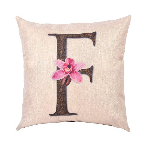 Throw Pillow Covers.Evz Homie Pillow Covers Letter Decorative Throw Pillow Case Home Decor Design Gift Square 18 X 18 Inch Coffee Beans Flowers F