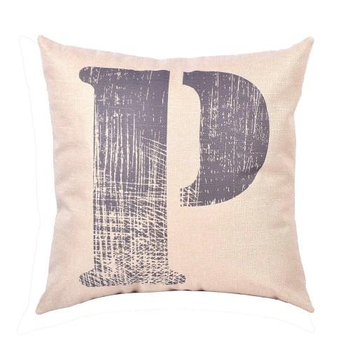 EvZ Homie Pillow Covers Letter Decorative Throw Pillow Case Home Decor  Design Gift Square, 18 X 18 Inch, Graffiti Paint, P