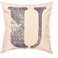 EvZ Homie Pillow Covers Letter Decorative Throw Pillow Case Home Decor Design Gift Square, 18 X 18 inch, Graffiti Paint, U