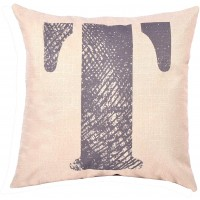EvZ Homie Pillow Covers Letter Decorative Throw Pillow Case Home Decor Design Gift Square, 18 X 18 inch, Graffiti Paint, T