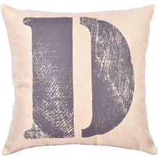 EvZ Homie Pillow Covers Letter Decorative Throw Pillow Case Home Decor Design Gift Square, 18 X 18 inch, Graffiti Paint, D