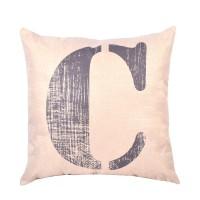 EvZ Homie Pillow Covers Letter Decorative Throw Pillow Case Home Decor Design Gift Square, 18 X 18 inch, Graffiti Paint, C