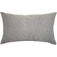 EvZ Homie Pillow Covers Water Oil Proof Heavy Cloth Decorative Case for Home Room Outdoor Cafe Decor Gift, Square, 20 X 12 inch, Gray Mixture