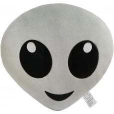 EvZ 32cm Emoji Alien Emoticon Gray Cushion Stuffed Plush Soft Pillow