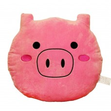 EvZ 32cm Emoji Smiley Emoticon Pink Round Cushion Stuffed Plush Soft Pillow