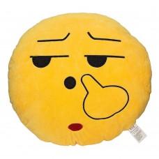 EvZ 32cm Emoji Smiley Emoticon Yellow Round Cushion Stuffed Plush Soft Pillow
