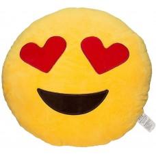 EvZ 32cm Emoji Smiley Emoticon Yellow Round Cushion Stuffed Plush Soft Pillow Toy