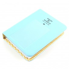 EvZ 64 Pockets Photo Album for Mini Fuji Instax Polaroid & Name Card Blue