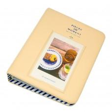 EvZ 64 Pockets Photo Album for Mini Fuji Instax Polaroid & Name Card Creamywhite
