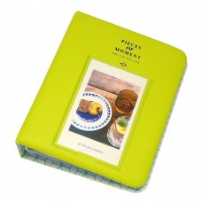 EvZ 64 Pockets Photo Album for Mini Fuji Instax Polaroid & Name Card Fruitgreen