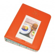 EvZ 64 Pockets Photo Album for Mini Fuji Instax Polaroid & Name Card Orange