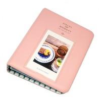 EvZ 64 Pockets Photo Album for Mini Fuji Instax Polaroid & Name Card Pink
