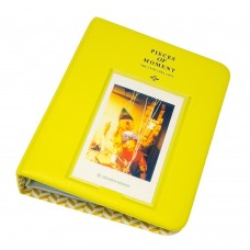 EvZ 64 Pockets Photo Album for Mini Fuji Instax Polaroid & Name Card Yellow