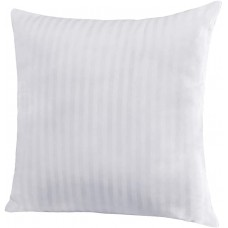 "EvZ Homie Premium Stuffer Pillow Insert Sham Square Form Polyester, 18"" L X 18"" W, White Striped, Pack of 28"