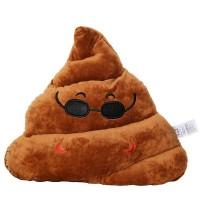 EvZ Poop 35cm Emoji Poo Emoticon Brown Triangle Cushion Stuffed Plush Soft Pillow