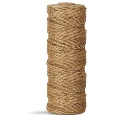 Natural Jute Twine Durable Industrial Packing Materials Heavy Duty Natural Brown Twine Jute Rope/String 320ft/100m for Arts, Crafts & Gardening Applications
