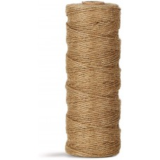 Natural Jute Twine Durable Industrial Packing Materials Heavy Duty Natural Brown Twine Jute Rope/String 984ft/300m for Arts, Crafts & Gardening Applications