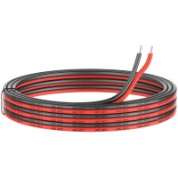 16 Gauge Silicone Electric Wire, EvZ 33ft 16AWG Flexible 2 Conductor Parallel Cable, 2pin Red Black, High Temperature Resistant, Single Color LED Strip Extension