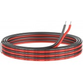 24 Gauge Silicone Electric Wire, EvZ 33ft 24AWG Flexible 2 Conductor Parallel Cable, 2pin Red Black, High Temperature Resistant, Single Color LED Strip Extension