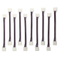 EvZ 10PCS LED 5050 RGBW Strip Light Connector 5 Pin Conductor 12 mm Wide Strip to Strip Jumper