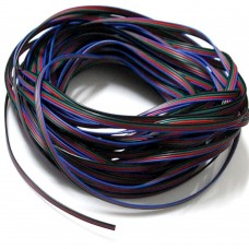 EvZ 22AWG 4pin LED Electric Wire 22 Gauge 66ft 20m Conductor Extension Cable Line Cord for RGB LED Strip 5050 3528