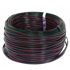 EvZ 590m 1Roll 4 Color RGB Extension Cable Line for LED Strip RGB 5050 3528 Cord 4pin