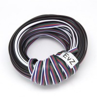 EvZ 590m 1Roll 5 Color RGBW Extension Cable Line for LED Strip RGBW 5050 Cord 5pin