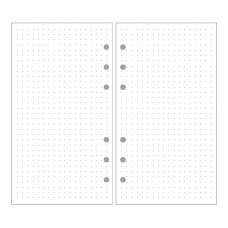 EvZ A6 Refill Dot Matrix Paper, 6 Holes Ring Binder Filler for 7 Inches Refillable Journal Notebook Diary Organizer Planner Inserts, 80 Sheets/160 Pages