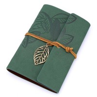 EvZ Vintage Dark Green PU Leather Cover Loose Leaf Blank Notebook Journal Diary Gift